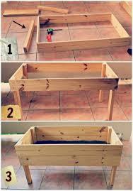 easy diy wooden raised planter 320