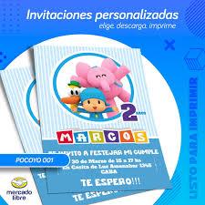 Invitacion Personalizada De Pocoyo Listo Para Imprimir 119