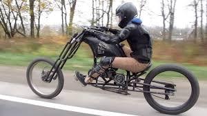 custom motorized chopper bike you