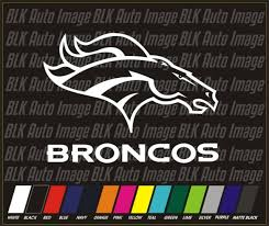 Denver Broncos Family Decals 6 Pack Auto Car Stickers Emblems Nfl For Sale Online Ebay