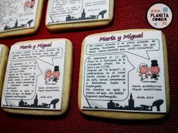 Invitaciones De Boda Comestibles Planeta Cookie