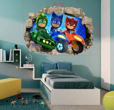 Pj Masks Wall Decals Wall Stickers Children Kids 3d Art Wall Etsy
