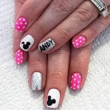 Disney nails. Gel nails. Disneyland nails. Mickey mouse nails. Minnie mouse  nails. Polka dot nails. Pink nails… | Disneyland nails, Minnie mouse nails,  Disney nails