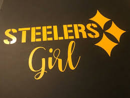 Pittsburgh Steelers Yellow Steelers Girl Car Vinyl Decal Sticker Pittsburghsteelers Pittsburgh Pennsy Car Decals Vinyl Vinyl Decal Stickers Vinyl Decals