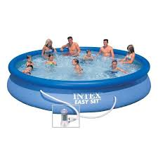 large inflatable pool for outdoor use