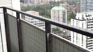 Balcony Cat Netting Example Pigeon Busters Youtube