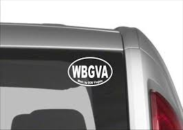 West By God Virginia Decal Wbgva Vinyl Decal West Virginia By God Decal West Virginia Sticker West Virginia By God Car Decals West Va