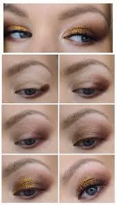 gold glitter makeup tutorial