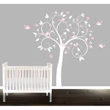 Shop Girls Nursery Swirl Tree Vinyl Wall Decal Overstock 9572836