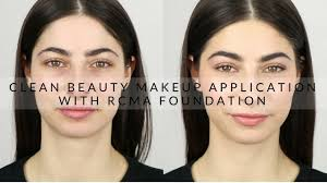 clean beauty makeup application with