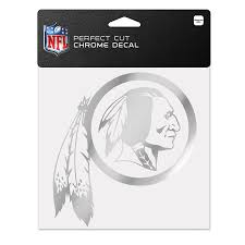 Washington Redskins Wincraft 6 X 6 Chrome Decal