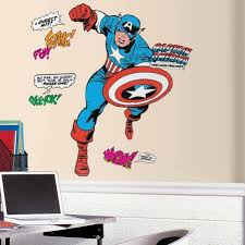 Marvel2338gm Classic Captain America Giant Wall Decals Wallpaper Boulevard