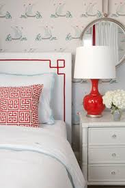 red and aqua twin bedroom project nursery