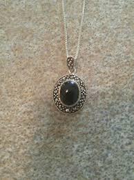 elegant vintage black oval onyx