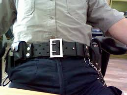 police leather duty belt 1 shot of