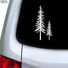 Redwood Trees Decal For Car Window Cute Car Decals Tree Decals Car Decals