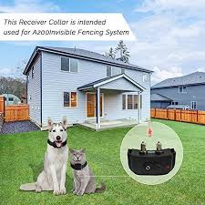 Pet Fence System For Pet Barrier Fencing Invisible Outdoor Fence With Boundary Marks And Rechargeable Receiver Collar Walmart Com Walmart Com