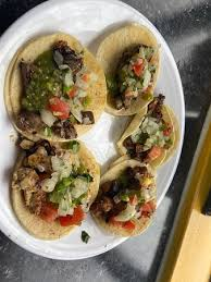 street tacos with homemade salsa bar