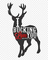 Decal Reindeer Sticker Clip Art Bucking Love You Png Download 5794431 Pinclipart