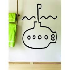 Custom Wall Decal Underwater Submarine Boat Silhouette 12x18 Inches Walmart Com Walmart Com