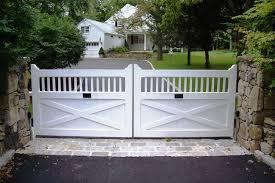 Wood Entrance Gates Westchester Automated Gate Wood Gates Driveway Driveway Gate Wood Gate