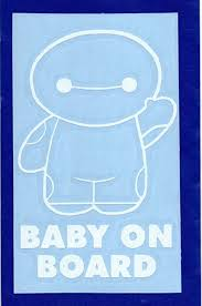 Amazon Com Big Hero 6 Baymax 5 5 Tall Baby On Board Decal Sticker For Laptop Car Window Tablet Skateboard White Everything Else
