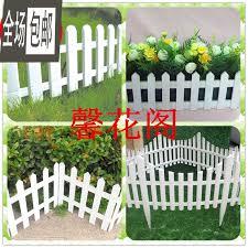 white fence decorative garden flower