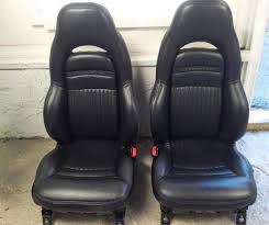 97 04 corvette c5 black leather sport
