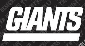 Ny Giants Vinyl Decal Sticker Car Truck Motorcycle Nfl Football New York Ebay