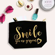 cute makeup bags smile you are