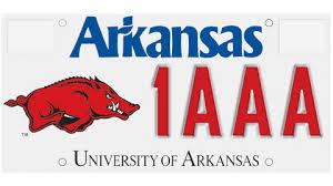 Razorback License Plates Provide Scholarships To Arkansas Students University Of Arkansas