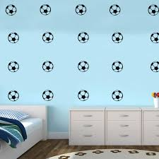 Amazon Com Pack Of 25 Soccer Balls Vinyl Wall Art Decals 1 5 X 1 5 Each One Kids Bedroom Sports Vinyl Wall Decal Stickers Childrens Room Wall Decor For Boys