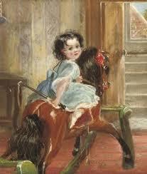 Flora Emma Sarah Ward on a Rocking Horse by Henrietta May Ada Ward on artnet