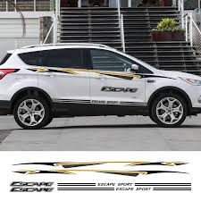 2pcs Car Stylish Sticker For Ford Escape Side Stripe Racing Sport Decoration Auto Vinyl Decal Automobiles Car Tuning Accessories Car Stickers Aliexpress