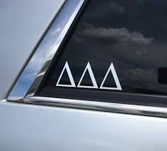 Traditional Car Decal Other Sororities Coastal Greek