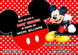 Mickey Mouse Baby Shower Invitations 8 50 Mickey Mouse Baby