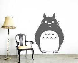 Totoro Wall Alone Sticker Vinyl Wall Decal Home Decorate Large Etsy