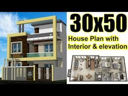 30x50 house plan with interior