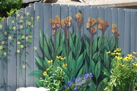 Wooden Fence Panels In The Garden Cottage At The Crossroads Fence Art Garden Mural Backyard Fences