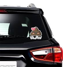 Poop Emoji Graphic Car Decal Personalized Youcustomizeit
