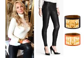 Ladies of London: Adela King`s Black Jeans and Leather Bracelets ...