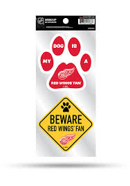 Detroit Red Wings 2 Piece Pet Themed Auto Decal Red 7142129