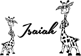 Giraffe Wall Decal Custom Name Baby Personalized Name Nursery Kids Boys Girls Safari African Wall Vinyl Decals Stickers Bedroom Murals Home Decor Amazon Com