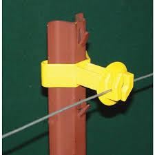 Aubuchon Hardware Store Dare Products Chain Link U Post Insulator 25 Pk Yellow Electric Fence Insulators Electric Fence Fencing Farm Pet