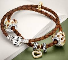 pandora to a double brown leather strap