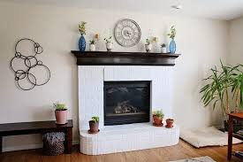 tips for how to paint a brick fireplace