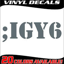 Military Vetern Suicide Prevention Igy6 I Got Your 6 Vinyl Decal Sticker Ebay