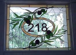 stained glass window transom