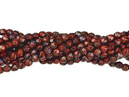 czech glass 3mm opaque red picasso