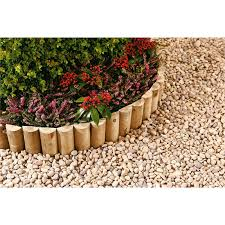 Half Round Log Softwood Edging Border Roll 15 X 180cm Homebase